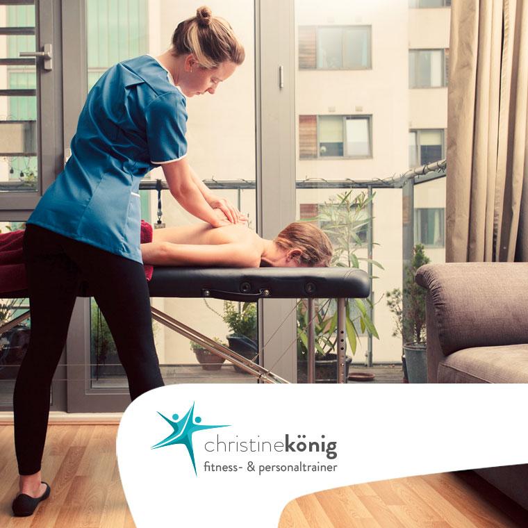 Christine König - Personal Trainer, Leistungen - Mobile Massage - Übersicht
