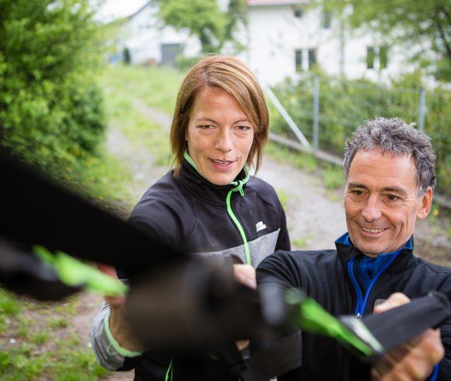 Personal Training mit Christine König aus Marbach. Foto: Dominik Thewes